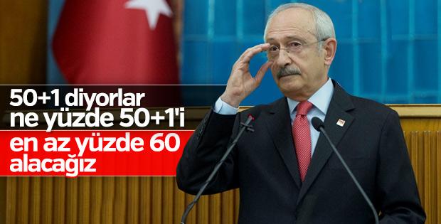 Kemal Kılıçdaroğlu'nun 2019 hedefi: Yüzde 60