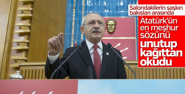 Kemal Kılıçdaroğlu, Meclis'e gaflarıyla döndü