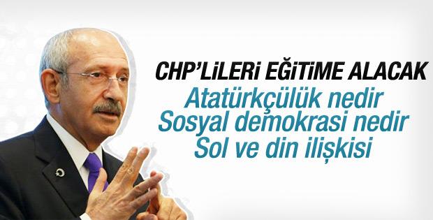 CHP'de ideolojik eğitim başlayacak