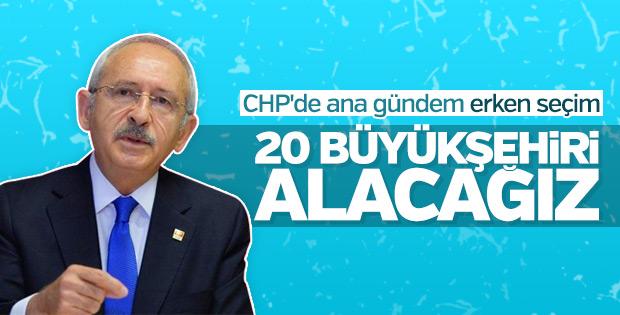 CHP'nin gündemi: Erken seçim