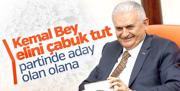 Başbakan'dan Kılıçdaroğlu'na tavsiye: Elini çabuk tut