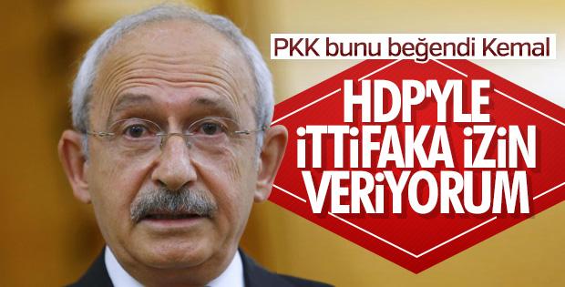 Kemal Kılıçdaroğlu, HDP ile ittifaka izin verdi