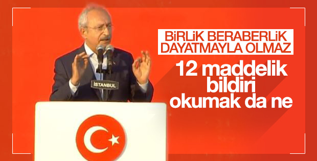 Kemal Kılıçdaroğlu'nun Yenikapı konuşması