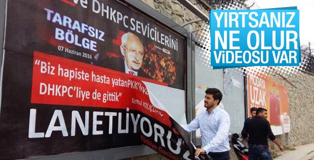 Kılıçdaroğlu'na tepki afişlerini gençlik kolları topladı
