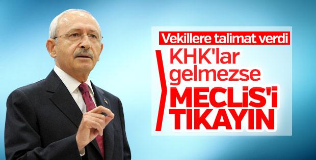 CHP Meclis'in çalışmasını engelleyecek