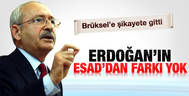 Kemal Kılıçdaroğlu: Erdoğan'ın Esad'dan bir farkı yok