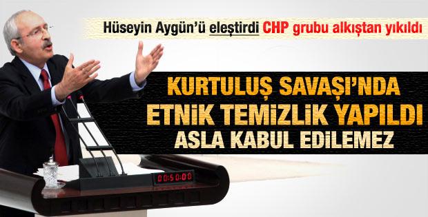 Kılıçdaroğlu parti grubundan Hüseyin Aygün'ü eleştirdi