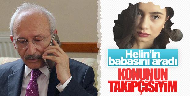 Kemal Kılıçdaroğlu'ndan Helin'in ailesine taziye telefonu