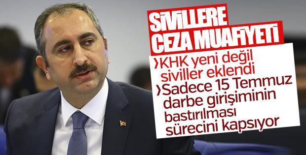 Adalet Bakanı Gül'den KHK eleştirilerine yanıt