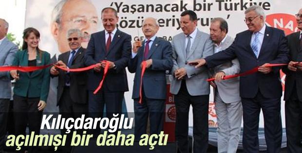 Kemal Kılıçdaroğlu Çanakkale'de açılış yaptı