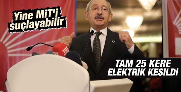 Kılıçdaroğlu'nun Adana konuşmasında elektrikler kesildi İZLE