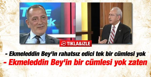 Kılıçdaroğlu: Ekmeleddin Bey'in rahatsız eden cümlesi yok