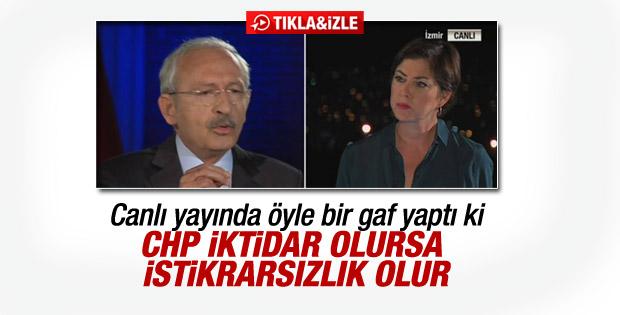 Kılıçdaroğlu'ndan iktidar gafı