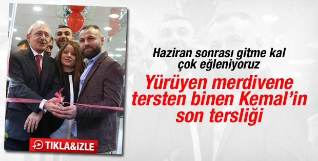 Kılıçdaroğlu bu kez tersten kurdele kesti - İzle