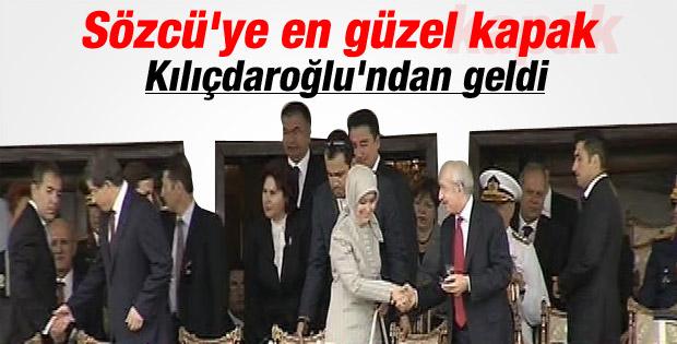 Sare Davutoğlu Kılıçdaroğlu ile el sıkıştı İZLE
