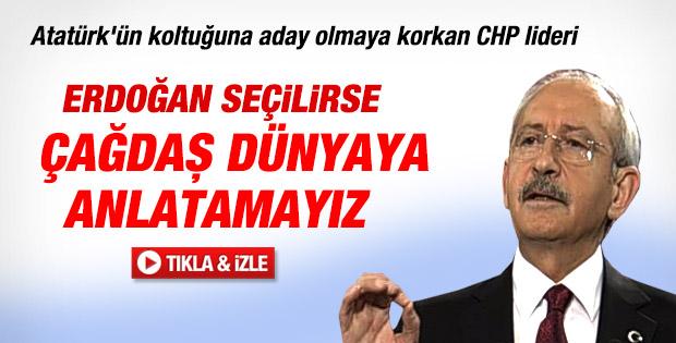 Kılıçdaroğlu: Erdoğan seçilirse dünyaya anlatamayız