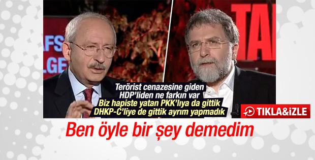 Kılıçdaroğlu canlı yayında kendini yalanladı
