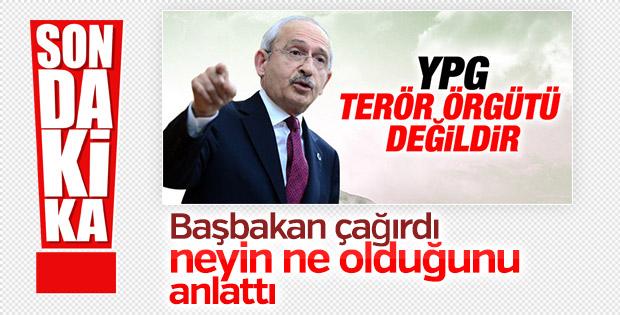 Başbakan Binali Yıldırım, Kılıçdaroğlu'nu kabul etti
