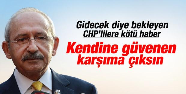 Kılıçdaroğlu: Liderlik savaşı beni sevindirir