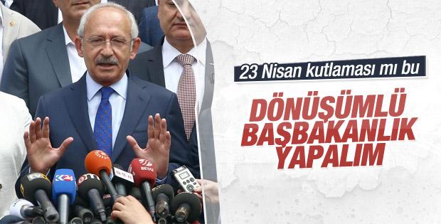 CHP yüzde 25 oyla dönüşümlü başbakanlık istiyor