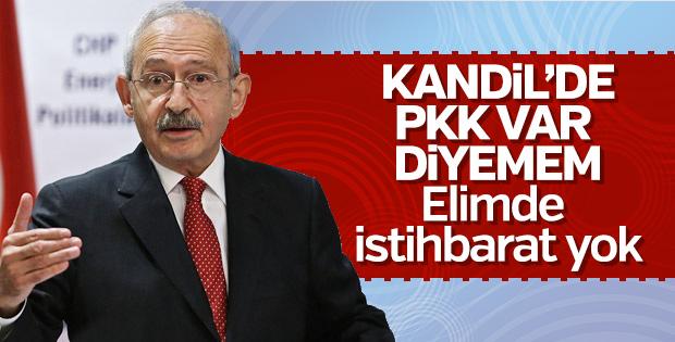 Kemal Kılıçdaroğlu Kandil'deki PKK varlığından habersiz