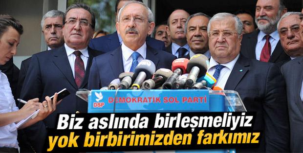 Kılıçdaroğlu'ndan Masum Türker'e: Aslında birleşmeliyiz