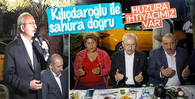 Kılıçdaroğlu taksicilerle sahur yaptı
