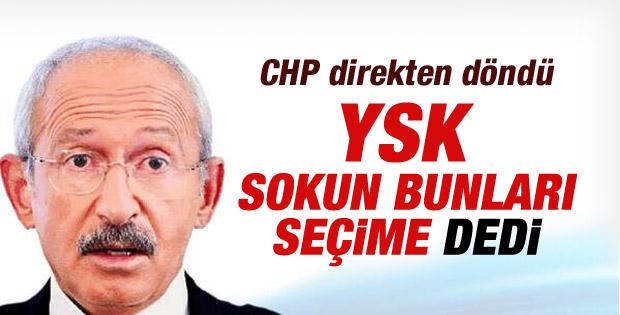 YSK CHP kararını iptal etti