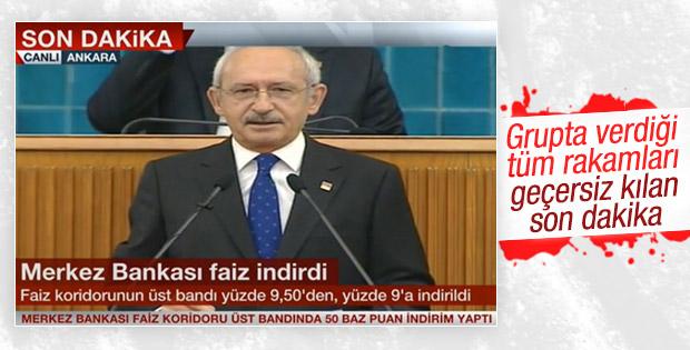 Kılıçdaroğlu'nun faiz eleştirisini Merkez Bankası bitirdi