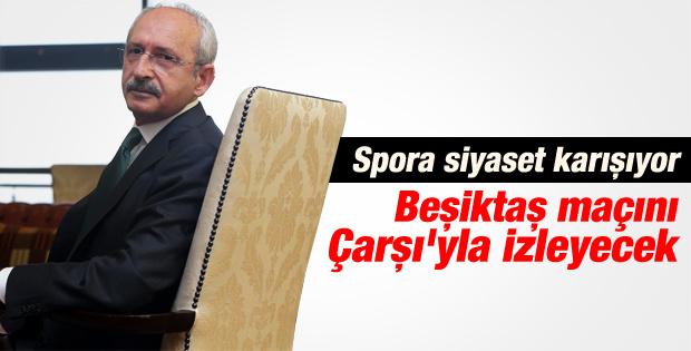 Kılıçdaroğlu Asteras Tripolis maçını Çarşı'yla izleyecek