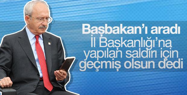 Kılıçdaroğlu'ndan Başbakan'a geçmiş olsun telefonu