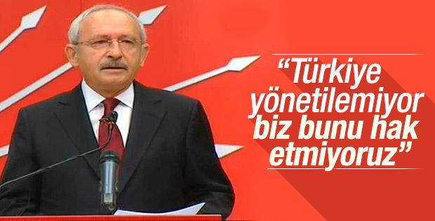 Kılıçdaroğlu: Türkiye en derin krizlerinden birini yaşıyor
