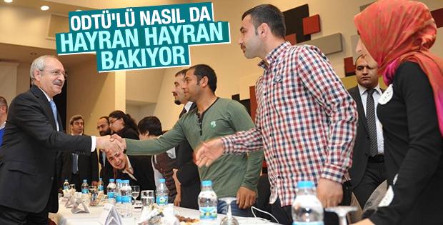 Kılıçdaroğlu ODTÜ'lü öğrencilerle buluştu