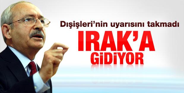Kılıçdaroğlu CHP heyeti ile Irak'a gidiyor