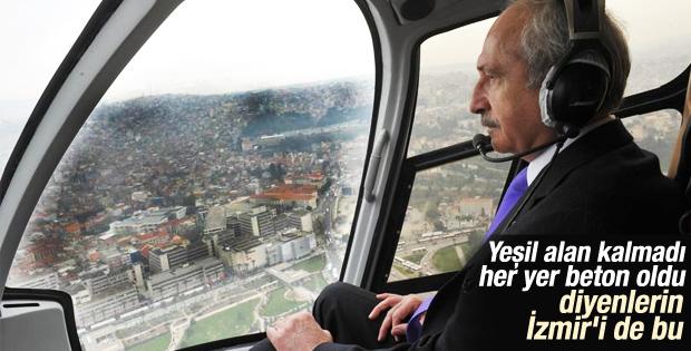 Kemal Kılıçdaroğlu İzmir'i havadan inceledi