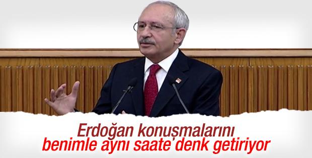Kılıçdaroğlu: Erdoğan bizi kimse dinlemesin diye konuşuyor