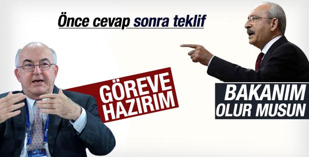 Kemal Derviş Kılıçdaroğlu'nun teklifini kabul etti