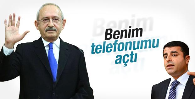 Kemal Kılıçdaroğlu Demirtaş'la telefonda görüştü
