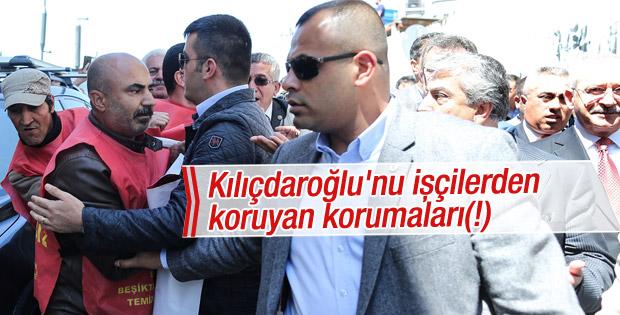 Kılıçdaroğlu'na ulaşmak isteyen işçilere koruma engeli