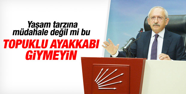 Kemal Kılıçdaroğlu'ndan topuklu ayakkabı uyarısı