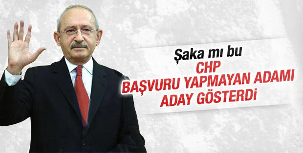 CHP Ali Özgündüz'ü yanlışlıkla aday gösterdi