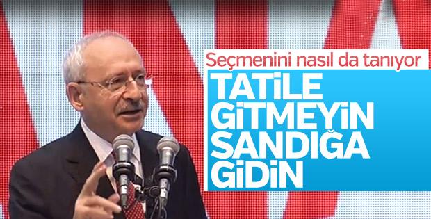 CHP lideri Kemal Kılıçdaroğlu'ndan tatil mesajı