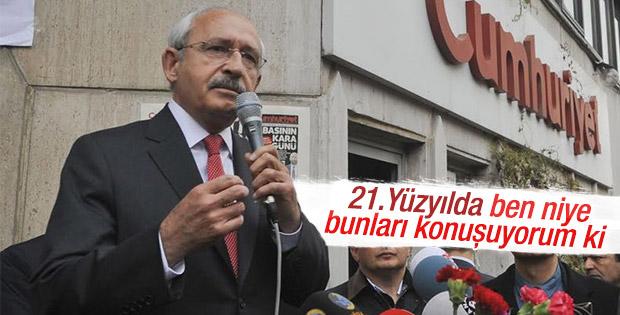 Kemal Kılıçdaroğlu'ndan Cumhuriyet gazetesine ziyaret
