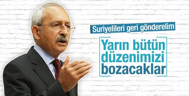 Kılıçdaroğlu Suriyeli mültecilerin gönderilmesini istiyor