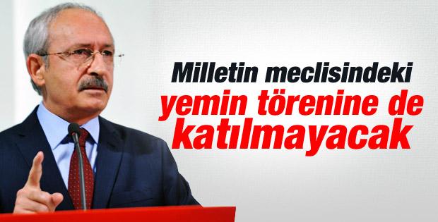 Kılıçdaroğlu yemin törenine de katılmayacak