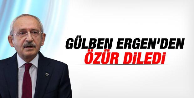 Kılıçdaroğlu Gülben Ergen'den özür diledi