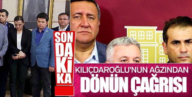 Kılıçdaroğlu 15 milletvekiline dönüş yolunu açtı