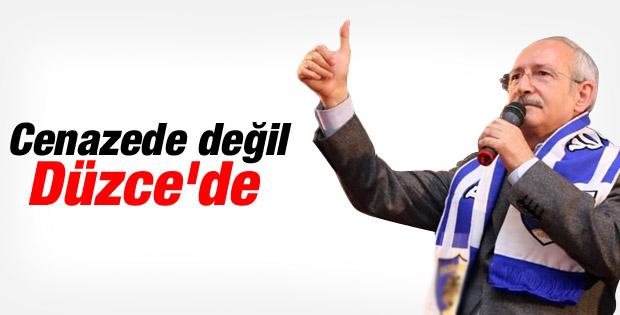 Kemal Kılıçdaroğlu'nun Düzce mitingi konuşması