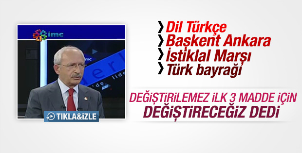 Kılıçdaroğlu'ndan Anayasa çıkışı