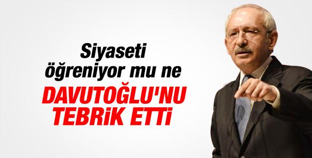Kılıçdaroğlu Başbakan'ı tebrik etti